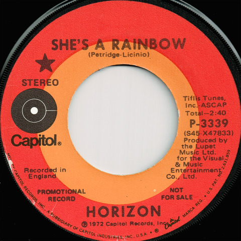 HORIZON - SHE'S A RAINBOW (1972)