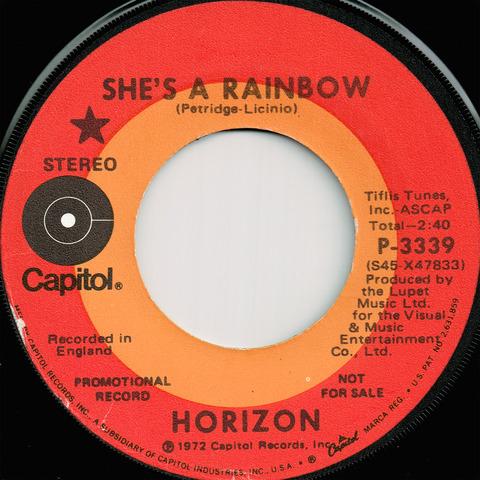 HORIZON - SHE'S A RAINBOW (1972)