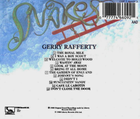 Gerry Rafferty - Snakes And Ladders (1980) CD(1998) b