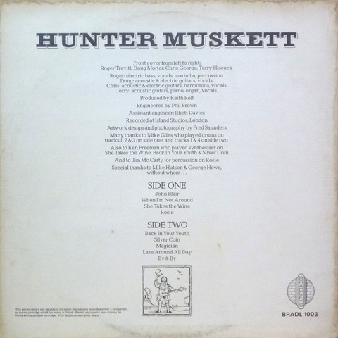 HUNTER MUSKETT (1973) B