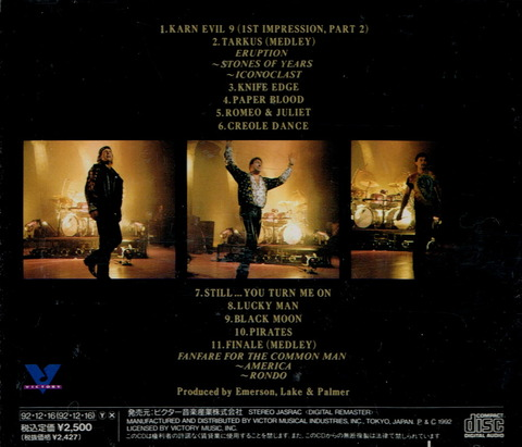 EMERSON, LAKE & PALMER - LIVE AT THE ROYAL ALBERT HALL (1992) B