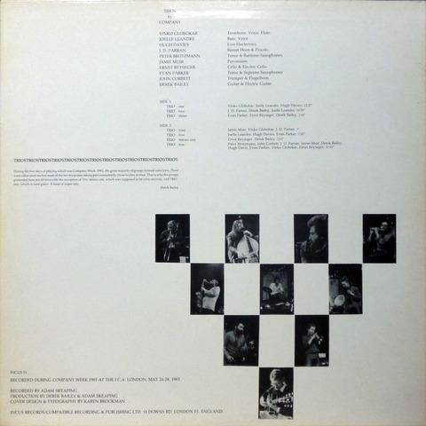 COMPANY - TRIOS by COMPANY (1986) B