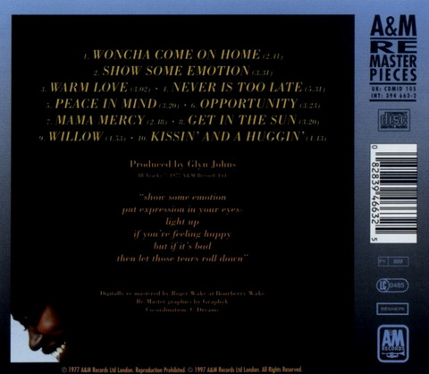 Joan Armatrading - Show Some Emotion (1977) b