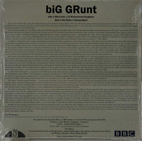 biG GRunt In Session (2016) 12inch EP F