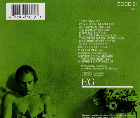ENO - ANOTHER GREEN WORLD (1975), CD (1987) b