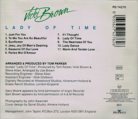 Vicki Brown - LADY OF TIME (1989) B