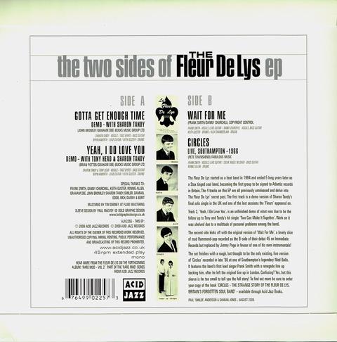 the two side of The Fleur De Lys back
