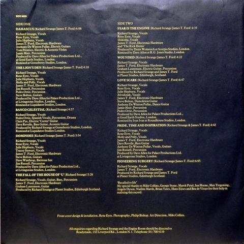 Richard Strange & The Engine Room - going gone (1986) i