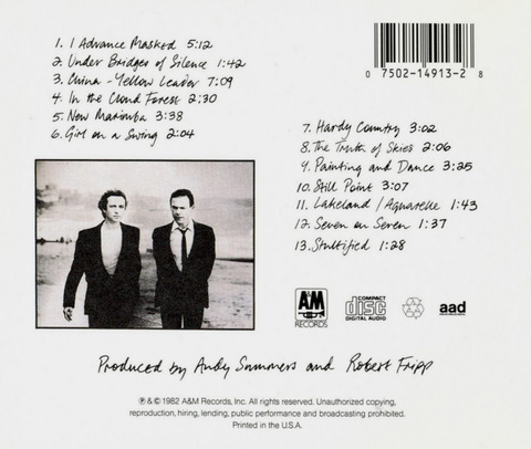 Andy Summers & Robert Fripp - I Advance Masked (1982) b