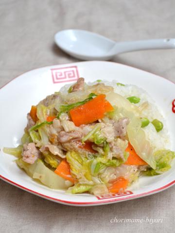塩えのきの中華丼