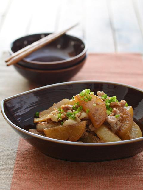 焼き大根と豚肉の煮ものR