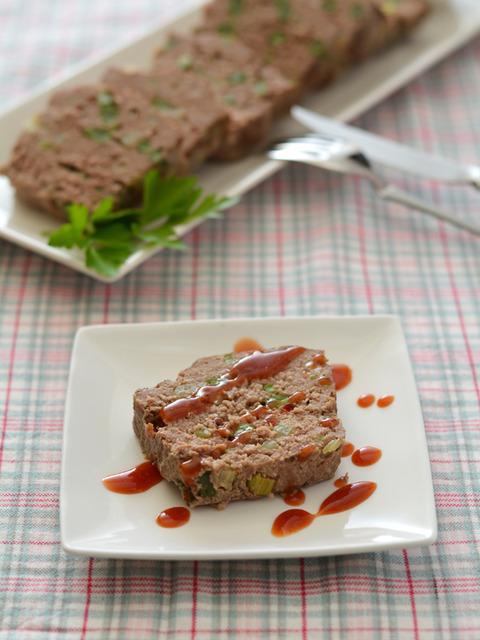 野菜とピンクペパーのミートローフR3