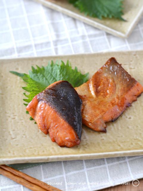 鮭の甘酢照り焼き190729-2