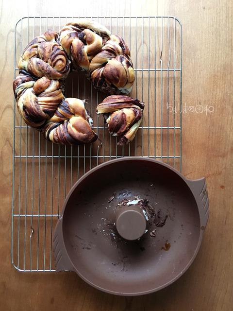チョコマーブルちぎりパン170526