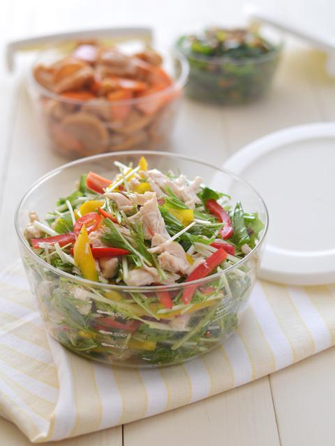 ササミと水菜の塩麹マリネR3