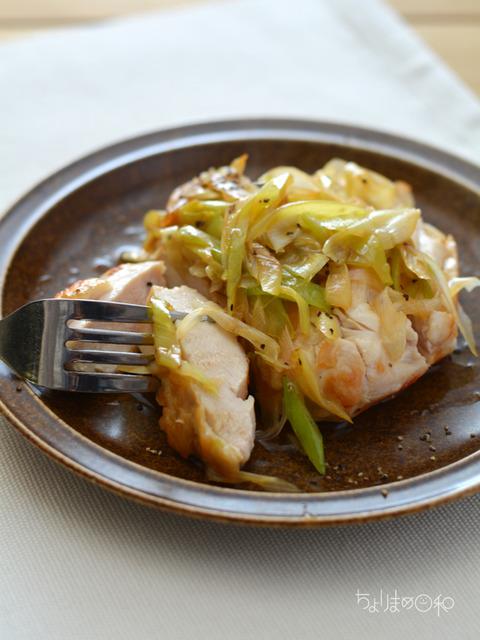 鶏肉のソテー ねぎだくペッパー醤油3