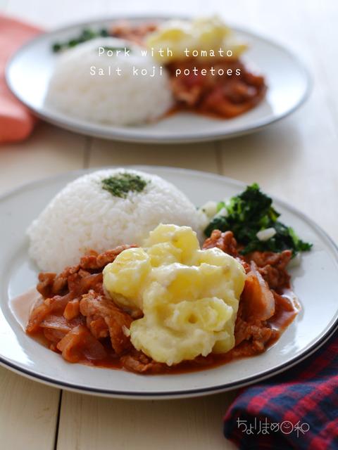 晩ごはん181024_豚肉のトマト煮