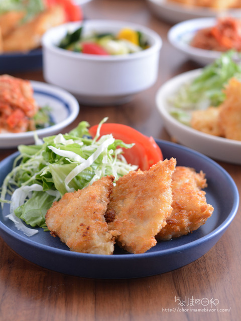 晩ごはん200525_白身魚のフライ
