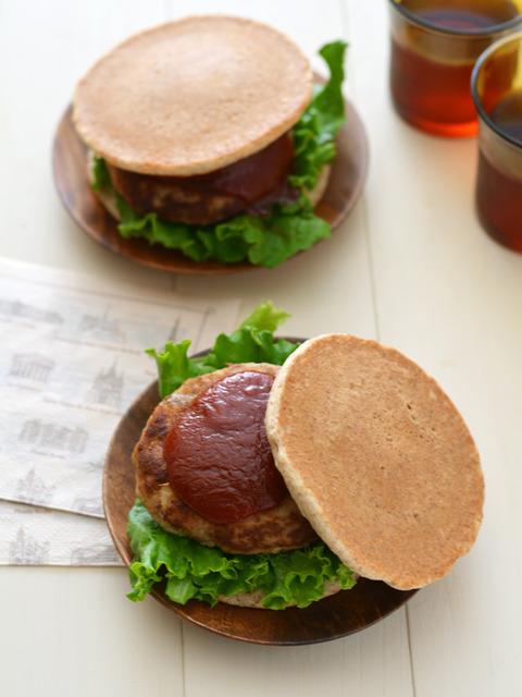 おからハンバーグライ麦パンケーキサンドR2