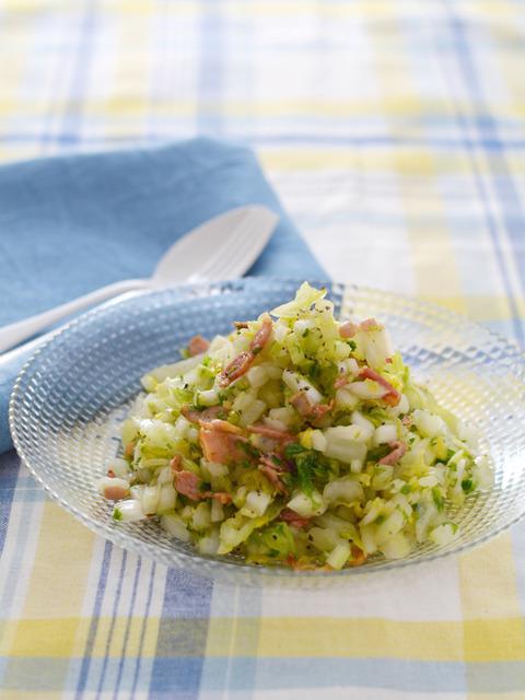 白菜とセロリのベーコンコールスローR
