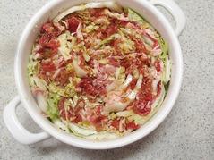白菜と豚肉の鍋蒸しP3