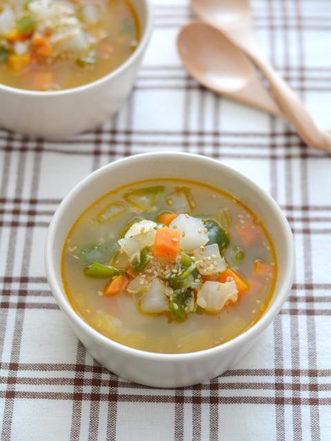 ピリ辛野菜スープR2