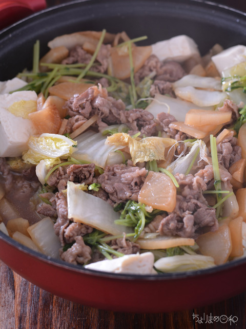 晩ごはん191102_牛大根の白菜無水鍋2