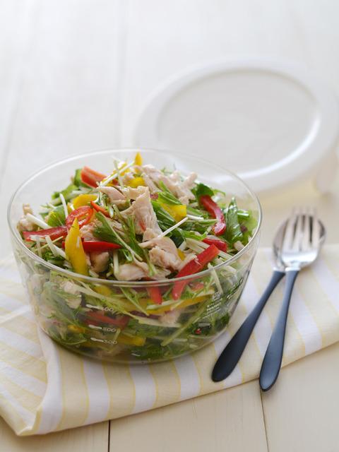 ササミと水菜の塩麹マリネR2
