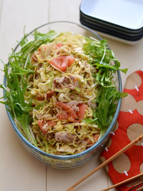 トマトごまだれの豚しゃぶサラダ3