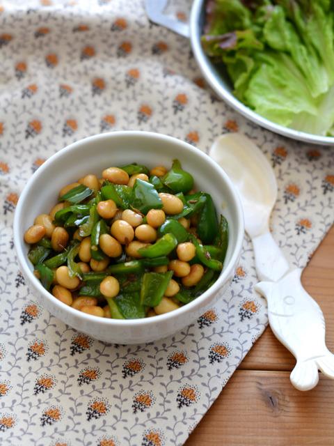 豆とピーマンのクミン炒めR2