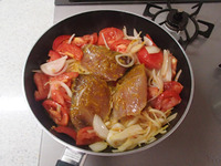 ブリのカレートマト焼きP3