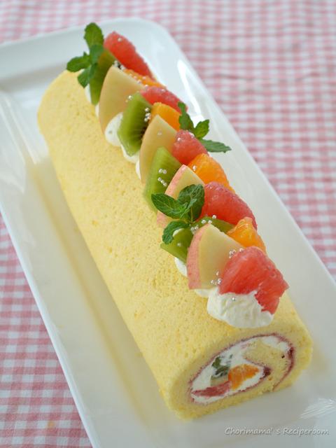 フルーツロールケーキ3