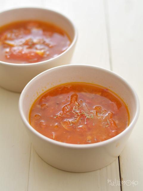 トマトと桜えびのスープ170926
