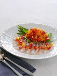パプリカのマリネと白身魚のカルパッチョR