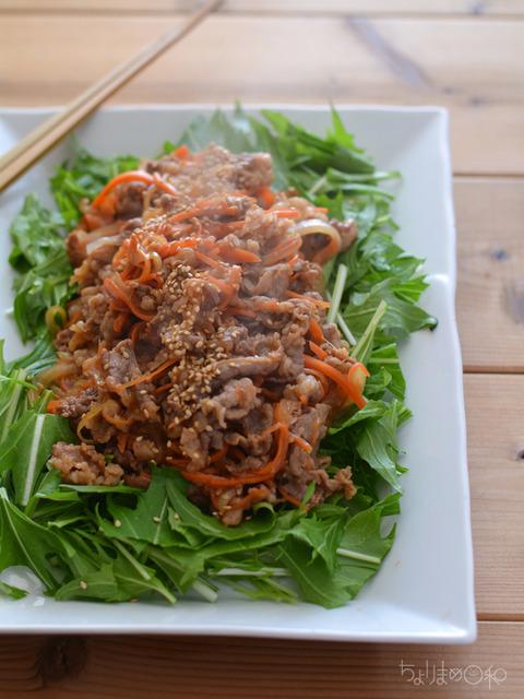 牛肉と野菜の焼肉風2