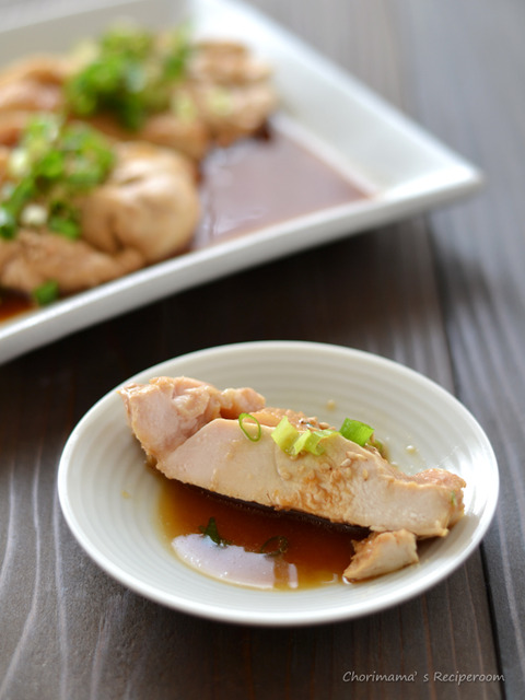 中華風レンジ蒸し鶏3