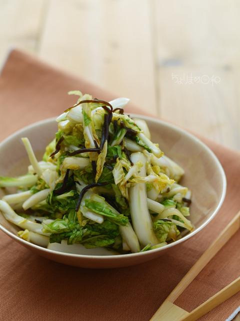 白菜の塩昆布浅漬け