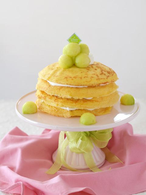 メロンのクレープケーキR3