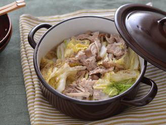 豚白菜ときのこの無水ごま油鍋R4