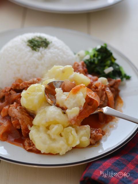 晩ごはん181024_豚肉のトマト煮3