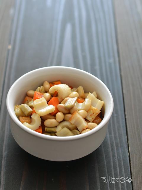 晩ごはん180608_煮豆