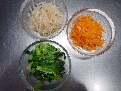 韓国風牛炒めのせ3色ナムル201221-P7