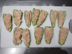 ピーマンの鶏ひき肉詰め210218-P2