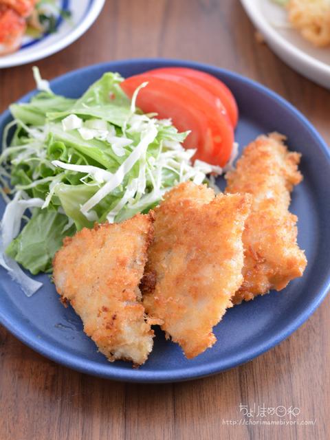 晩ごはん200525_白身魚のフライ2