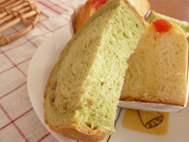 抹茶と胡桃のラウンドパン2
