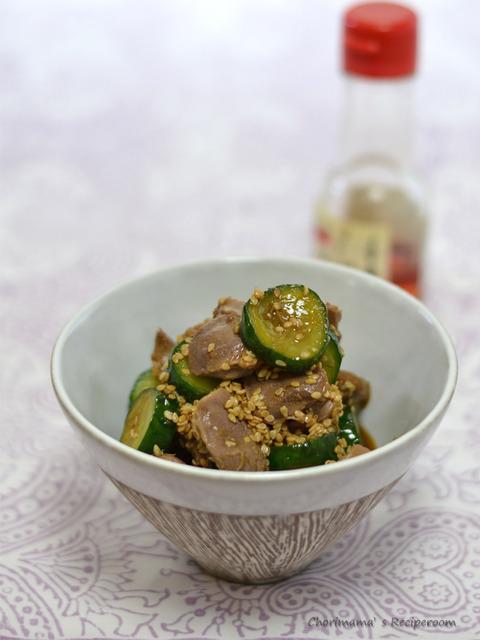中華風砂肝きゅうり