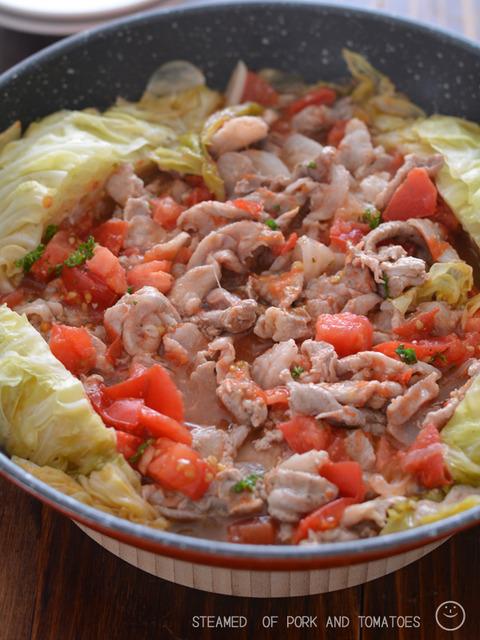 豚トマフライパン蒸し 野菜増し増し190608-3