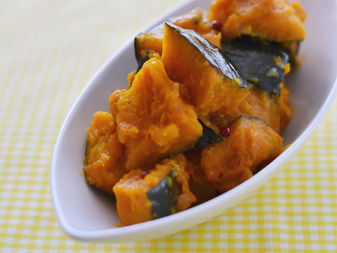 鶏むね肉のコンフィ7_かぼちゃサラダ