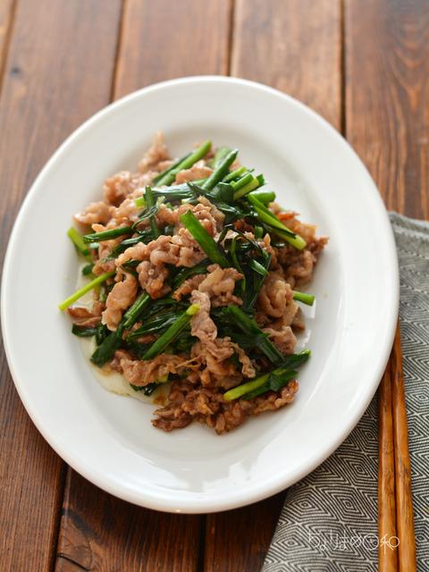 牛肉とニラのオイスターソース炒め180930-2