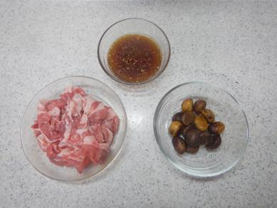 甘栗と豚肉のしょうが炒め_クレハ201711-P